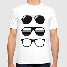 set of sunglasses Mens Fitted Tee White SMALL