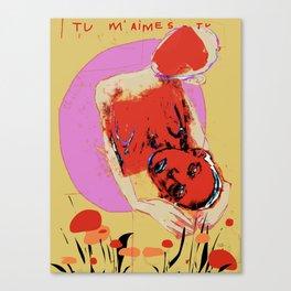 TU M'AIMES-TU? Canvas Print