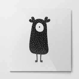 Polka Dotted Monster Metal Print