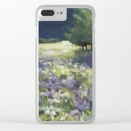 Fields of White and Purple Clear iPhone Case