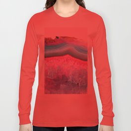 Rose Quartz and Serenity Agate Long Sleeve T-shirt