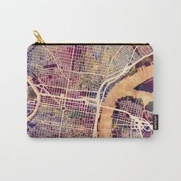 Philadelphia Pennsylvania City Street Map Carry-All Pouch