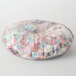 Paris map Floor Pillow
