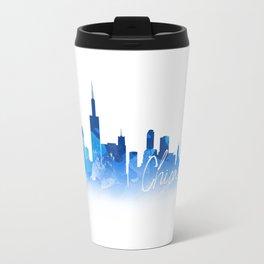 Chicago in Blue Travel Mug