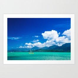 Kaneohe Bay Art Print