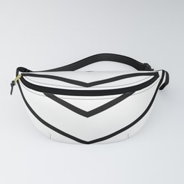 Black and white arrows moving vertically. Fanny Pack