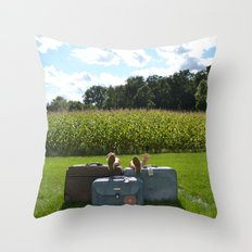 Luggage Throw Pillow