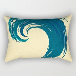 - blue 'davy jones' wave - Rectangular Pillow
