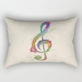 Treble Clef Rectangular Pillow