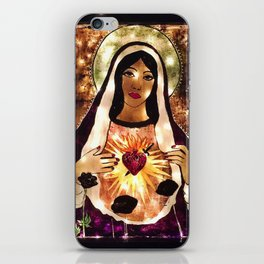 Our Virgin Lady of Guadalupe Painting original artwork by Chrissy Goral iPhone Skin