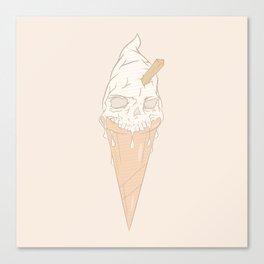 Ice cream skull light Canvas Print