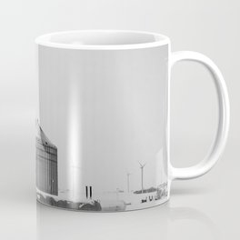 Grain Elevator & Silo Farm (B&W Photography) Coffee Mug
