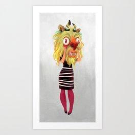 Anxiety Beast Art Print