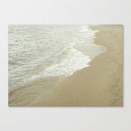 Edge of the ocean Canvas Print
