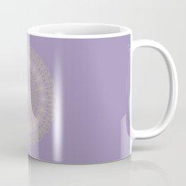 Lotus Mandala in Lavender and Gold Coffee Mug