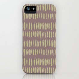 Earthy Green on Grape Vine Purple Parable to 2020 Color of the Year Back to Nature Bold Grunge Dash iPhone Case