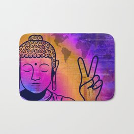 Buddha World Peace Bath Mat