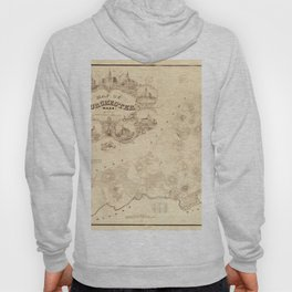 Map Of Dorchester 1850 Hoody