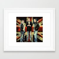 top gear Framed Art Prints featuring top gear  by janice maclellan