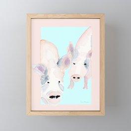 Piggies Framed Mini Art Print