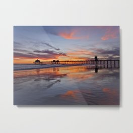 Surf City Sunsets 3/24/15     Huntington Beach Pier Metal Print