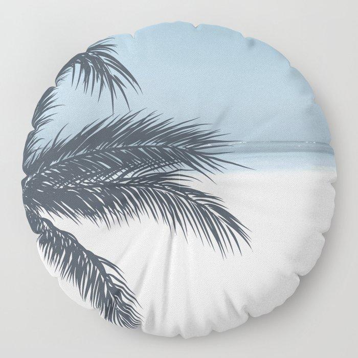 Palm and Ocean Floor Pillow