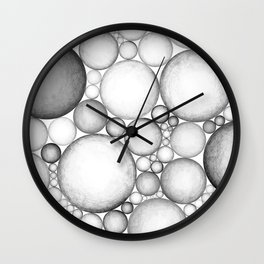OBLIVIOUS SPHERES BLACK AND WHITE Wall Clock
