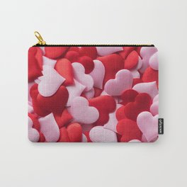 Mix of red and pink hearts Carry-All Pouch