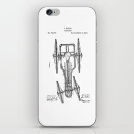 patent art Baker Velocipede 1883 iPhone Skin