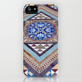 Beautiful, Traditional, Indian Tile Work in Hyderabad, India iPhone Case