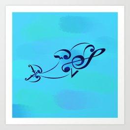Crescendolphin Art Print