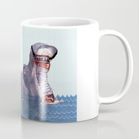 hippo Mugs featuring Hippo by MGNFQ