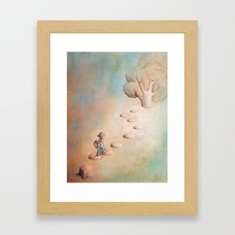 Climbing a Tree Framed Art Print
