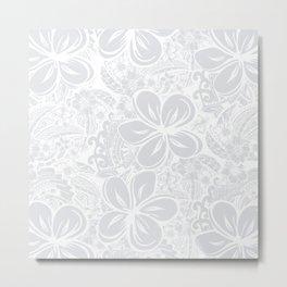 Maui Polynesian Silver Wedding Metal Print