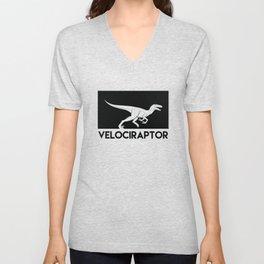 Velociraptor Dinosaur Unisex V-Neck
