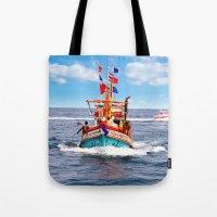 thailand Tote Bags featuring Pattaya - Thailand by Namchok Petsaen
