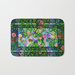 Mermaid in the lily pond Bath Mat