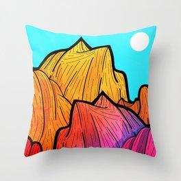 Summer top hills Throw Pillow