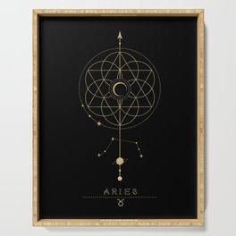 Aries Zodiac Constellation Serving Tray