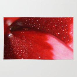 Dew on Petal fine art photography Rug