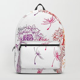 Rainbow dandelions Backpack