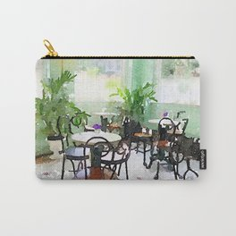 Watercolor Cafe Carry-All Pouch