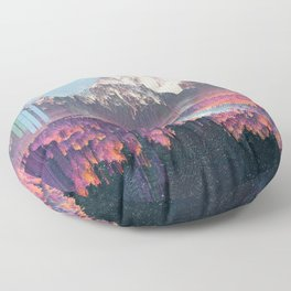 Glitched Landscapes Collection #2 Floor Pillow