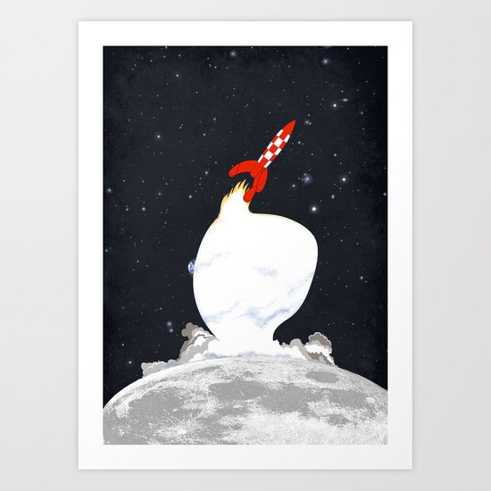 Destination Moon Art Print
