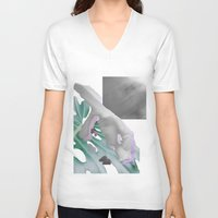 moscow V-neck T-shirts featuring Moscow Clinics by Tate Bacalao