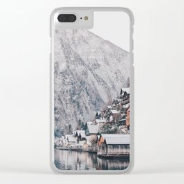 VILLAGE - COAST - MOUNTAINS - SNOW - PHOTOGRAPHY Clear iPhone Case