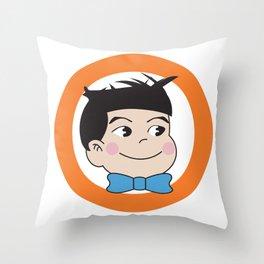 Mabo in ring of orange Throw Pillow