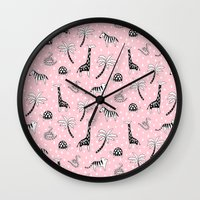 safari Wall Clocks featuring Safari by Sian Keegan