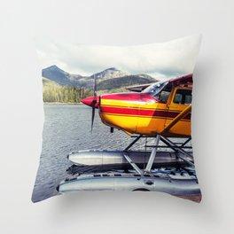 Docked Seaplane Throw Pillow