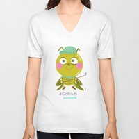 golf V-neck T-shirts featuring GOLF by Sucoco